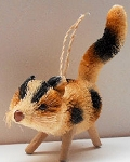 Collectible Calico Cat Ornament, Brush Fiber