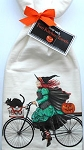Sample, Cat And Witch Flour Sack Towel Set