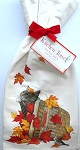 Sample, Cat And Fall Leaves Flour Sack Towel Set