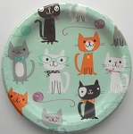Sample, Cat Paper Plates, Purr-fect Party