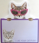 Sample, Cat Self Stick Notes, Cattitude