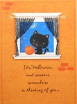 Cat Halloween Card, Thinking Of You