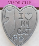 Cat Visor Clip, I Love My Cat