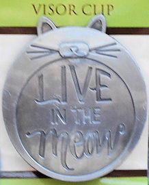 Cat Visor Clip, Live In The Meow