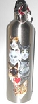 Stainless Steel Cat Water Bottle, I Love Cats