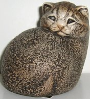 Collectible Windstone Kitten, Tiger