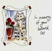 Cat Sympathy Card, In Memory Of Your Beloved Cat