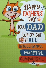 Cat Father's Day Card, From The Cutest Daughter