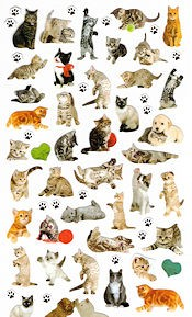 Cat Stickers, Micro Cats