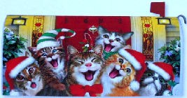 Christmas Cats Mailbox Cover