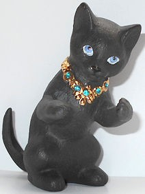 Collectible Black Cat Figurine, Paws up, Lenox
