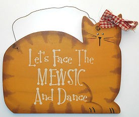 Collectible Cat Sign, Mewsic