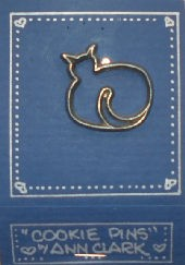 Collectible Cookie Pin, Pewter Cat