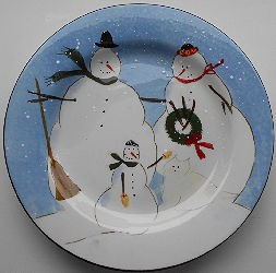 Collectible Snow Cat Plate, Cat & Snow Family, Warren Kimble