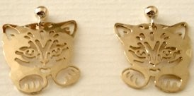 Kitten Earrings, Kitten Paws