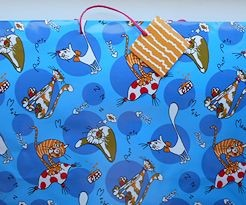 Extra Large Cat Gift Bag, Crazy Cats