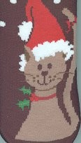Christmas Cat Slipper Socks