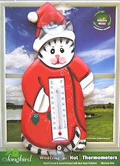 Christmas Cat Window Thermometer