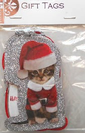 Christmas Gift Tags, Kitty Christmas