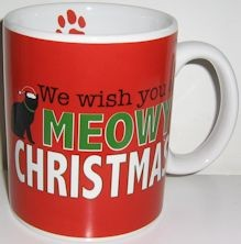 Christmas Cat Mug, Meowy Christmas