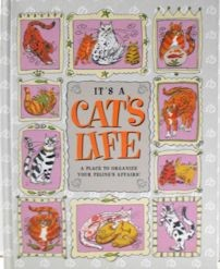 Collectible Cat Record Organizer, It's A Cat's Life
