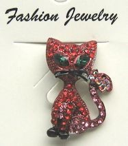 Collectible Cat Pin, Red Cat
