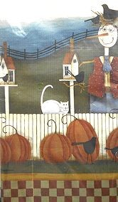 Collectible Halloween Paper Tablecloth, Pumpkin Paradise