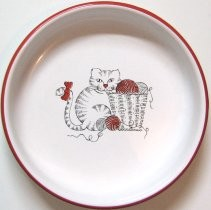 Collectible Dish With Cat And Yarn