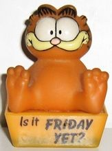 Collectible Garfield Figure, Is It Friday Yet?